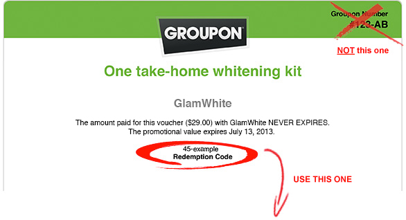 Groupon Voucher Code Example